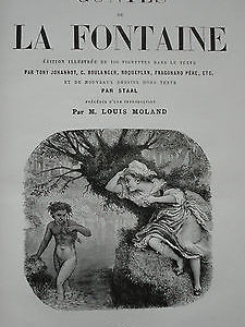 Curiosa LA FONTAINE  Contes de La Fontaine.   Staal..
