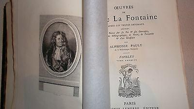 La Fontaine fables Contes et Nouvelles en Vers théâtre 6 vo Lemerre sur Hollande