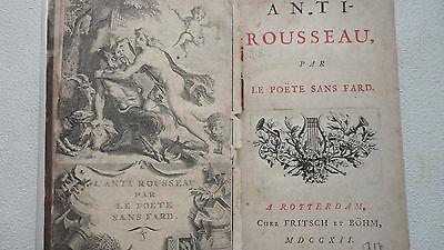 GACON (François)] Anti-Rousseau, par le Poête sans fard.   1712