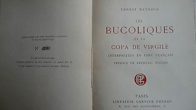 Raynaud  Les Bucoliques et La Copa de Virgile papier vergé