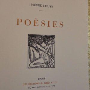 LOUÿS (Pierre) Poësies 1927