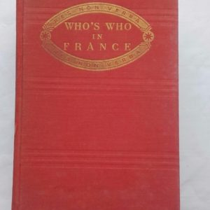 Who`s Who in France (4e édition). Dictionnaire biographique  1959-1960