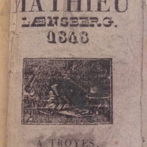 LAENSBERG Matthieu  LE GROS MATHIEU LAENSBERG 1848