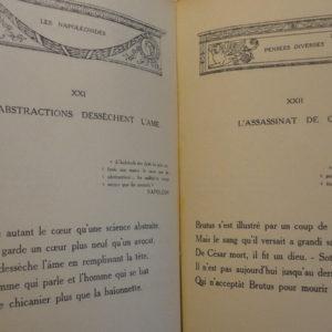 Les Napoléonides. 1925