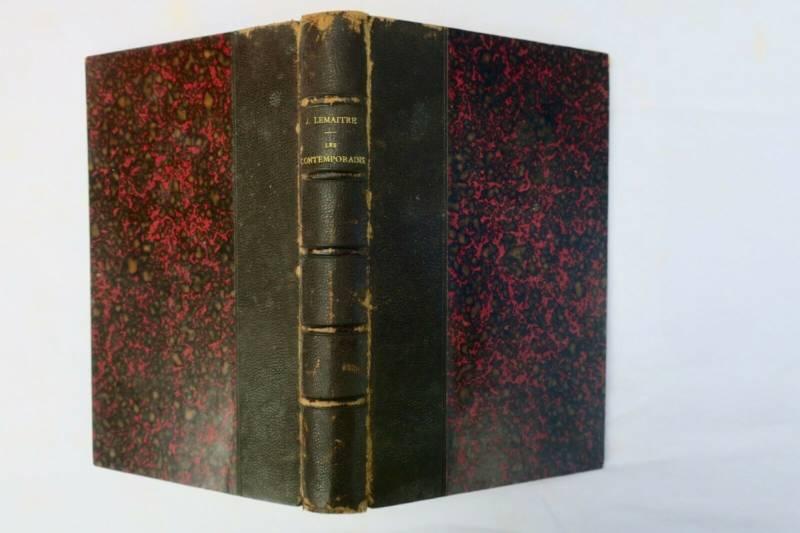 LEMAITRE Les contemporains,études et portraits littéraires 1890